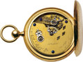 Timepieces:Pocket (pre 1900) , Nashua Watch Co. Rare and Important Gold American Pocket Watch, No.1230, circa 1860. ...