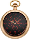 Timepieces:Pocket (pre 1900) , Patek Philippe Gold Pocket Watch with Unique and Rare Fancy Dial ,circa 1888. ...