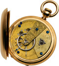 Timepieces:Pocket (pre 1900) , Waltham Dennison, Howard & Davis Rare Gold American Watch, No.2368, circa 1855. ...
