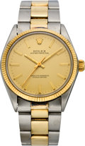 Timepieces:Wristwatch, Rolex Men's Two Tone Oyster Perpetual, ref. 1002, circa 1978. ...