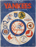 Autographs:Others, Thurman Munson Signed Program Cover. ...
