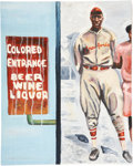 Baseball Collectibles:Others, Josh Gibson Original Artwork....