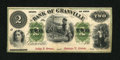 Obsoletes By State:Ohio, Granville, OH- Bank of Granville $2 G4b Wolka 1209-07. ...
