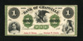 Obsoletes By State:Ohio, Granville, OH- Bank of Granville $1 G2b Wolka 1209-01. ...