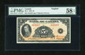 Canadian Currency: , BC-5 $5 1935 PMG Choice About Unc 58 EPQ.. ...
