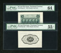Fractional Currency:First Issue, Fr. 1313SP 50c First Issue Wide Margin Pair PMG Choice Uncirculated64/About Uncirculated 55 Net. ... (Total: 2 notes)