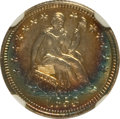 Seated Half Dimes, 1853 H10C No Arrows MS64 ★ NGC. NGC Census: (39/24). PCGSPopulation (20/15). Mintage: 135,00...
