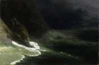 IVAN KONSTANTINOVICH AIVAZOVSKY (Russian, 1817-1900) Seascape , 1878 Oil on canvas 25 x 38 inches