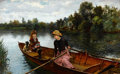 Paintings, WILLIAM HENRY BARTLETT (British, 1858-1932). An Idle Afternoon, 1880. Oil on canvas. 22-1/2 x 36 inches (57 x 91.5 cm). ...