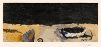GEORGES BRAQUE (French, 1882-1963) Untitled Color lithograph on paper 12 x 28-3/4 inches (30.5 x