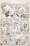 Original Comic Art:Panel Pages, Jack Kirby and Chic Stone Avengers #6 page 16 Original Art(Marvel, 1964)....
