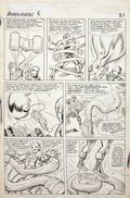 Original Comic Art:Panel Pages, Jack Kirby and Chic Stone Avengers #6 Iron Man page 17Original Art (Marvel, 1964)....