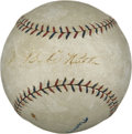 Autographs:Baseballs, 1920 Babe Ruth & Walter Johnson Signed Baseball....