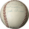 Autographs:Baseballs, 1963 Jackie Robinson Single Signed Baseball....