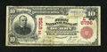 National Bank Notes:Pennsylvania, Derry, PA - $10 1902 Red Seal Fr. 613 The First NB Ch. # (E)6756....