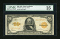 Large Size:Gold Certificates, Fr. 1200 $50 1922 Mule Gold Certificate PMG Very Fine 25....