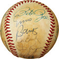 Autographs:Baseballs, Baseball Hall Of Famer and All Stars Multi Signed Baseball. ...