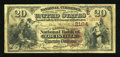 National Bank Notes:Kentucky, Louisville, KY - $20 1882 Brown Back Fr. 501 The Citizens NB Ch. #(S)2164. ...
