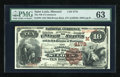 National Bank Notes:Missouri, Saint Louis, MO - $10 1882 Brown Back Fr. 484 The NB of Commerce Ch. # (M)4178. ...