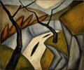 Sculpture, SÁNDOR BORTNYIK (Hungarian, 1893-1976). Abstract Composition. Oil on canvas. 20 x 24 inches (50.8 x 61.0 cm). Signed low...