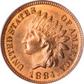 Indian Cents, 1884 1C MS66 Red PCGS....