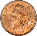 Indian Cents, 1889 1C MS66 Red PCGS....