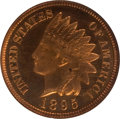 Proof Indian Cents, 1895 1C PR65 Red and Brown Cameo NGC. PCGS Population (4/1). (#82374)...