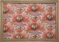 """Political:Textile Display (pre-1896), William Henry Harrison: Colorful Fabric Picturing the """"Hero ofTippecanoe""""...."""