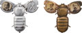 """Political:Pinback Buttons (1896-present), McKinley & Hobart and William Jennings Bryan: 1896 Jugate Mechanical """"Bug"""" Pins.... (Total: 2 Items)"""
