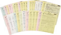 Music Memorabilia:Autographs and Signed Items, Various Signed Music Contracts Archive, 1968.... (Total: 40 Items)