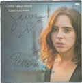 Music Memorabilia:Autographs and Signed Items, Laura Nyro and Labelle Signed Album Cover....