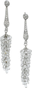 Estate Jewelry:Earrings, Diamond, Platinum, White Gold Earrings. ... (Total: 2 Items)