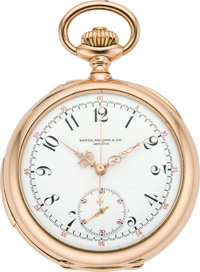 Patek Philippe & Cie Very Fine & Rare Gold Minute Repeater with Chronograph, circa 1897