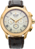"Timepieces:Wristwatch, Universal Geneve ""Okeanos Compax"" Limited Edition Gold Chronograph, No. 013/020, circa 1980. ..."