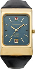 Timepieces:Wristwatch, Omega Gold Constellation Mega Quartz f 24 MHz, circa 1973. ...