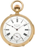 Timepieces:Pocket (pre 1900) , Chs. Ed. Lardet, Fleurier Swiss Fine Gold Minute Repeater, circa1885. ...