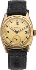 Timepieces:Wristwatch, Rolex Early Gold Wristwatch, circa 1936. ...