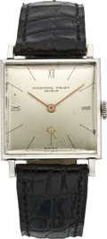 Timepieces:Wristwatch, Audemars Piguet Vintage Platinum Wristwatch, circa 1940's. ...