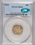 Bust Dimes, 1832 10C MS63 PCGS. CAC....