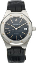Timepieces:Wristwatch, Audemars Piguet Gent's Steel Royal Oak Automatic, circa 1985. ...