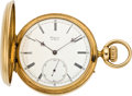 Timepieces:Pocket (pre 1900) , Frs. Audemars Brassus Gold Hunters Case Watch, circa 1880's. ...