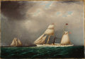 American:Marine, The Hon. Paul H. Buchanan, Jr. Collection. JAMES EDWARDBUTTERSWORTH (American, 1817-1894). American Steam-Sail YachtEM...