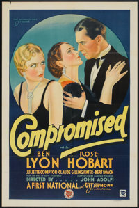 """Compromised (First National, 1931). One Sheet (27"""" X 41"""") Style B. Comedy"""