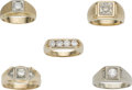 Estate Jewelry:Lots, Gentleman's Diamond, Gold Ring Lot. ...
