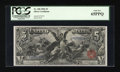 Large Size:Silver Certificates, Fr. 268 $5 1896 Silver Certificate PCGS Gem New 65PPQ....