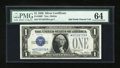 Small Size:Silver Certificates, Fr. 1600* $1 1928 Silver Certificate Star Note. PMG Choice Uncirculated 64.. ...