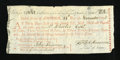 Colonial Notes:Continental Congress Issues, Continental Loan Office $300 / 1500 Livres Tournois Second Bill of Exchange 1778 Anderson 101 Very Fine....