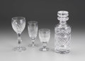 Art Glass:Other , AN ASSORTED GROUP OF WATERFORD GLASS STEMWARE. Circa 1950. 9-1/2inches (24.1 cm) high, decanter. ... (Total: 19 Items)