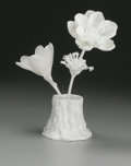 Ceramics & Porcelain, British:Contemporary   (1950 to present), AN ENGLISH PORCELAIN FLOWER SCULPTURE. Royal Worcester, 20thCentury. 8 inches (20.3 cm) high. ...