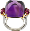 Estate Jewelry:Rings, Amethyst, Pink Spinel, Diamond, Platinum, Gold Ring, Paolo Costagli. ...